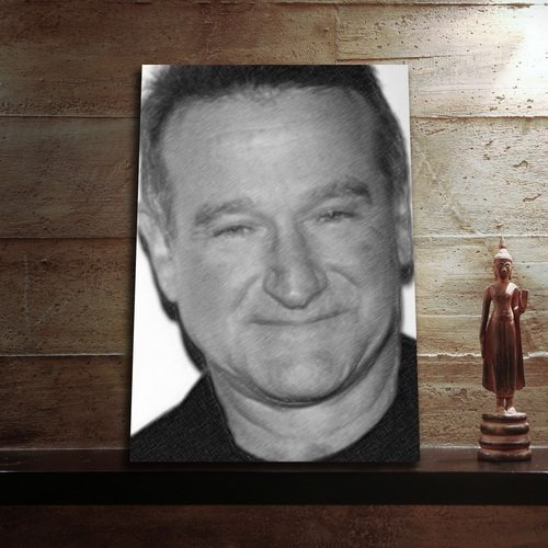 ROBIN WILLIAMS - Original Art Print (LARGE A3 - Signed by the Artist) #js001
