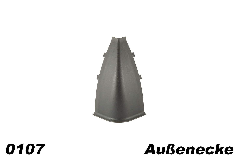 Fu/ßleisten Sockel Kabelkanal Modern Innenecken f/ür PVC Sockelleisten Modell:0102
