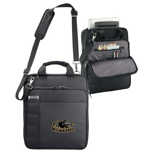 Wisconsin Milwaukee Kenneth Cole Black Vertical Checkpoint Friendly Messenger 'Official Logo' by CollegeFanGear