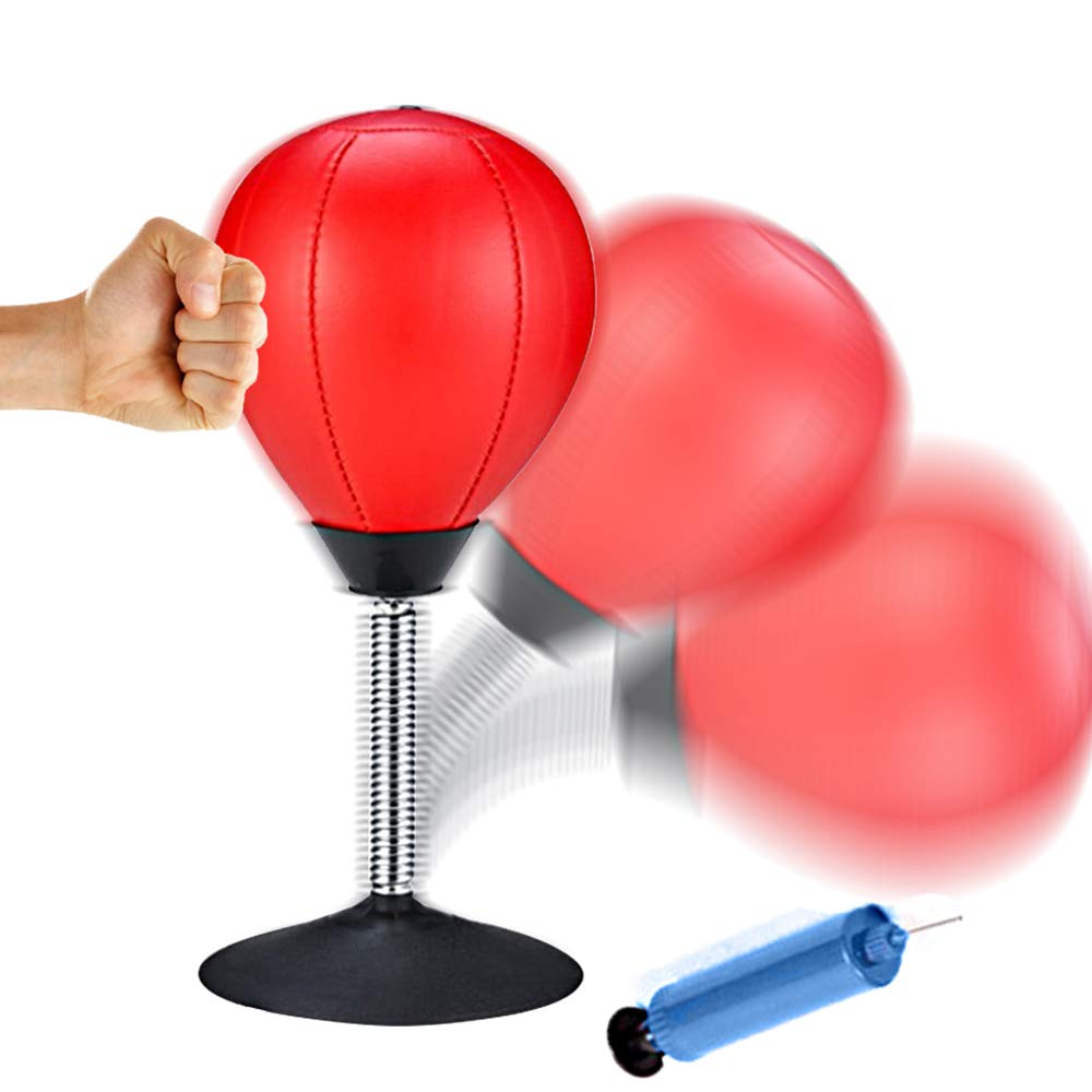 Sealive Desktop Punching Bag Stress Relief for Adults Kids, Ball Stress Buster with Strong Suction Cup Heavy Duty Pump, an Amazing Home Office Toy, Great Gift for Boss Co-Worker by Sealive