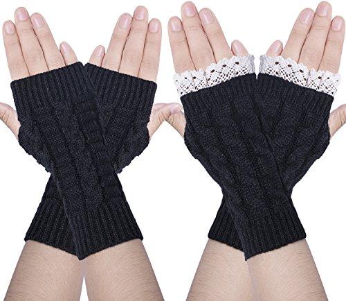 Chalier Womens Winter Fingerless Thumbhole