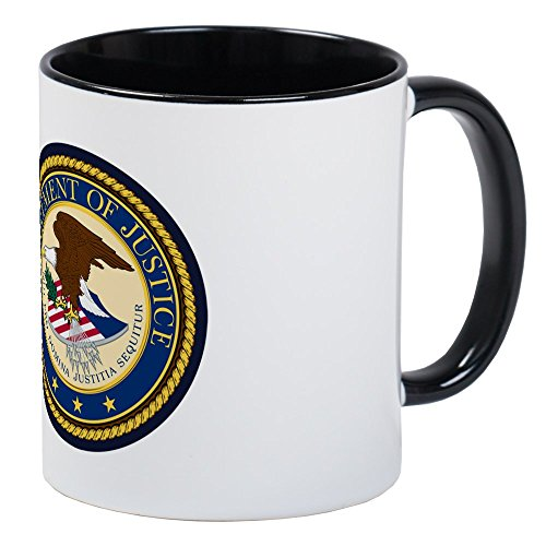 CafePress - GOVERNMENR SEAL - DEPARTMENT OF JUSTICE! Mugs - Unique Coffee Mug, Coffee Cup - Department Justice Seal