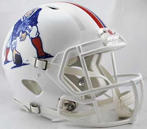 Riddell NFL New England Patriots Full Size Throwback Revolution Speed Helmet, Medium, Red