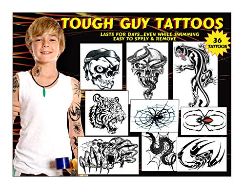 Kid's Temporary Tattoos - Tough Guy Tattoos for Boys #2