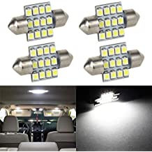 Partsam 31mm Canbus Error Free LED Light Bulbs for Interior Lights Map Dome Door Courtesy Light Bulbs DE3021 3175 -White 4Pcs