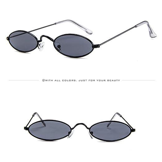 5e5fcd2fbbe032 Amazon.com  AMOFINY Fashion Glasses Mens Womens Retro Small Oval Sunglasses  Metal Frame Shades Eyewear  Clothing