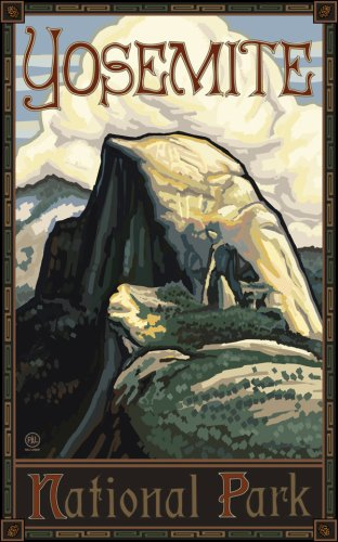 "Northwest Art Mall 11"" x 17"" Poster Yosemite Half Dome by Paul A. Lanquist"