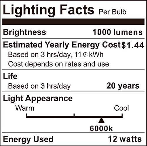 Outdoor Motion Sensor Light Bulb, 12W(100W Equivalent),Indoor Automatic Activated by Motion,A19,E26, 6000K Dusk to Dawn Security Bulbs for Entrance,Porch,Stairs,Garage,Hallway-2Pack by Boxlood