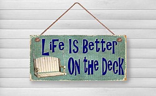 Amazon.com: enid545anne Bienvenido madera signos, la vida es ...