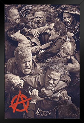 Sons Of Anarchy Fighting Framed Poster 12X18