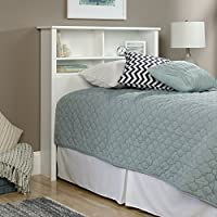 Sauder 418536 County Line Bookcase Headboard, Twin, Soft White