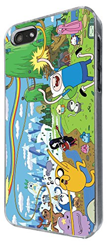 451 - Funny Adventure Time Cartoon Design iphone SE 5 5S Hülle Fashion Trend Case Back Cover Metall und Kunststoff