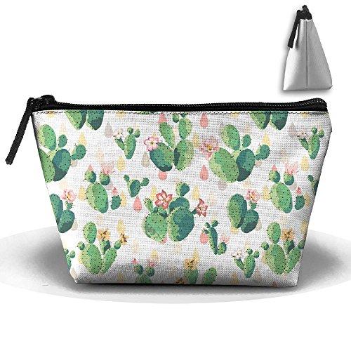 Cactus Organizer Bag U Pouch Storage Build Clutch Trapezoid Travel 47OwSq