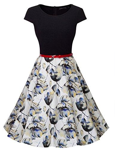 Buy belted cap sleeve dress - 1
