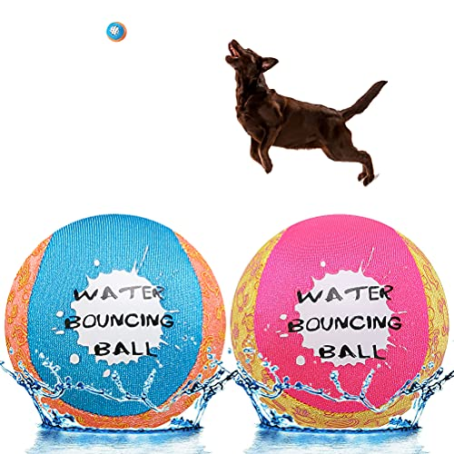 SCENEREAL Dog Water Toys Bouncing Balls – Floating Pool Toys for Dogs – Interactive Dog Summer Games Toys – 2 Pack…