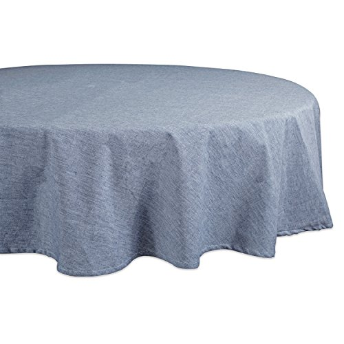 DII 100% Cotton, Machine Washable, Everyday Chambray Kitchen Tablecloth For Dinner Parties, Summer & Outdoor Picnics - 70