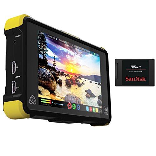 Atomos Shogun Flame 7'' 4K HDMI/12-SDI Recording Monitor Bundle With SanDisk 240GB Ultra II Internal Solid State Drive by Atomos