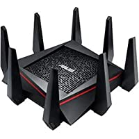 ASUS RT-AC5300 AC5300 Tri-Band WiFi Gaming Router, MU-MIMO, AiProtection Lifetime Security by Trend Micro, AiMesh Compatible for Mesh WiFi System, WTFast Game Accelerator