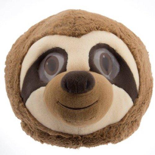 #Maskimals Panda Bear Maskimal Plush Head Plush Halloween Blue Shark, Sloth Plush Furry Head Maskimal Oversized Plush Halloween Mask White Unicorn Rainbow Tiger Head (Sloth)