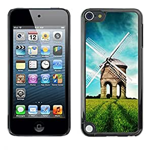 Paccase / SLIM PC / Aliminium Casa Carcasa Funda Case Cover - Nature Beautiful Forrest Green 39 - Apple iPod Touch 5