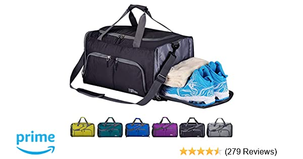 6f169a29dc73 Amazon.com  FANCYOUT Sports Gym Bag with Shoes Compartment   Wet Pocket