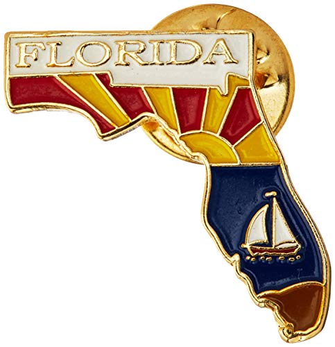 - EagleEmblems P09210 Pin-Florida (Map) (1'')