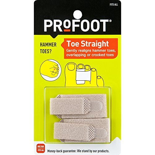(ProFoot Toe Straight Hammertoe Wrap, 1 Pair, One Size Fits All, Relieve Toe Pain)
