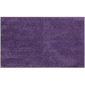 Amazon Com Mohawk Basic Stripe Twilight Purple Plush