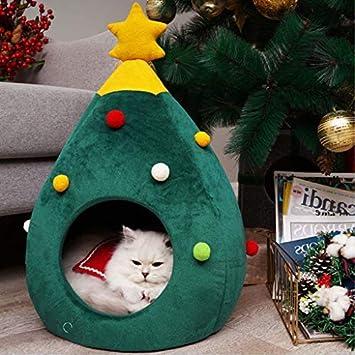 Amazon.com: JIJIKOKO - Casa para gatos con árbol de Navidad ...