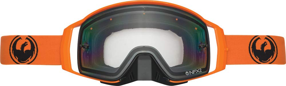 Dragon Alliance Unisex-Adult Nfx2 Orange (Injected Clear Lens) One Size