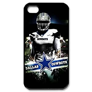 DALLAS COWBOYS NFL Classic Design Print Black Case With Hard Shell Cover for Apple iPhone 4/4S by ruishername