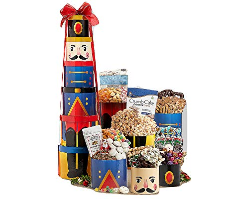 Wine Country Gift Baskets - Nutcracker Godiva Chocolate and Sweets Grand Party Gift Tower ()