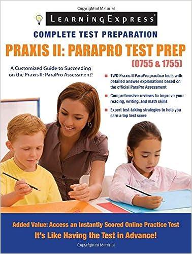 praxis ii: parapro test prep (0755-1755): russell kahn ...