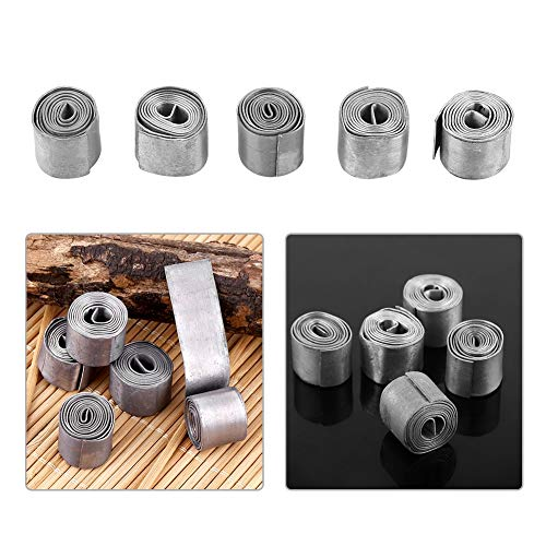 5 Rolls 0.6MM Soft Sheet Lead Roll Fishing Soft Lead Sheet Strip Weights Sinkers Clip Tackle Fishing Supplies