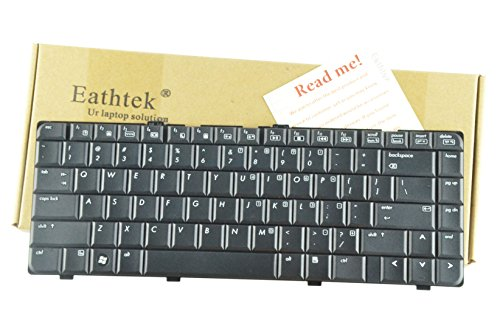 Eathtek Replacement Keyboard for HP Pavilion DV6000 DV6100 DV6200 DV6300 DV6400 DV6500 DV6600 DV6700 series Black US Layout, Compatible with part number 441427-001 431414-001 431415-001 AEAT1U00110