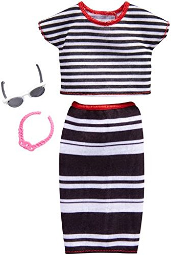 Barbie Fashions Complete Look Striped Top & Skirt ()