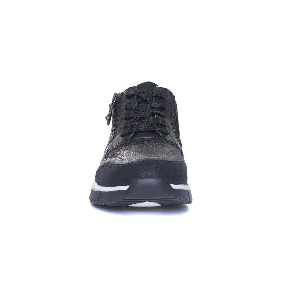 Relife Womens Black Lace Up Casual Shoe