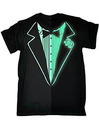 Tuxedo T-Shirt Prom Tee Luminous Fancy Dress Tux Top Party Costume T-SHIRT