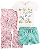 Carter's Baby Girls' 3 Piece Unicorn Jersey Pjs 4T