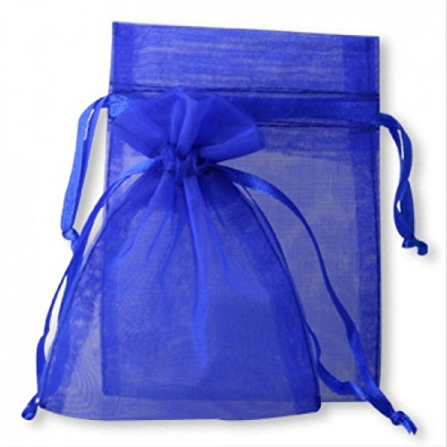 Koyal Wholesale 10-Pack Organza Favor Bags, 3-Inch by 4-Inch, Royal (Cheap Wholesale Candy)