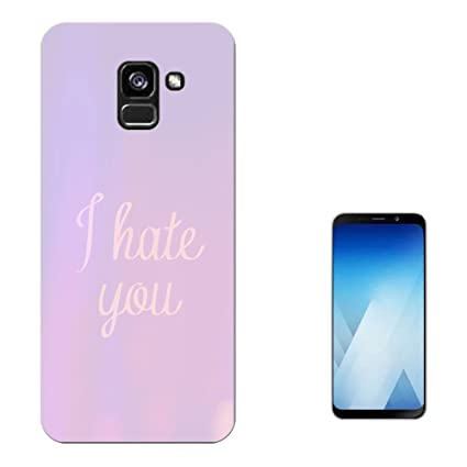 Merveilleux 003277   I Hate You Quote Purple Background Design Samsung Galaxy A7 (2018)  A730F