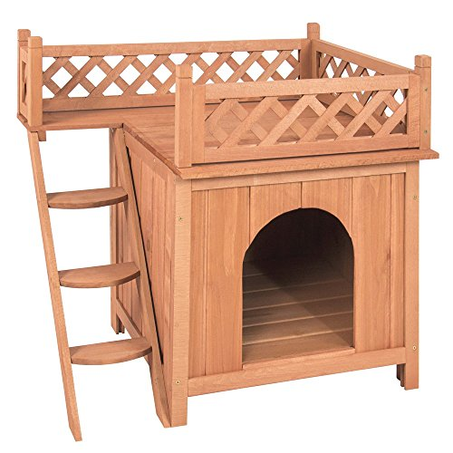 Vintage Wood Dog House Best Choice Products Shelter With Raised Roof Balcony (Custom Costumes In Edmonton)