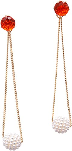 New Gold Long Chain Party Jewelry Gold Bling Bead Earrings Drop Dangle