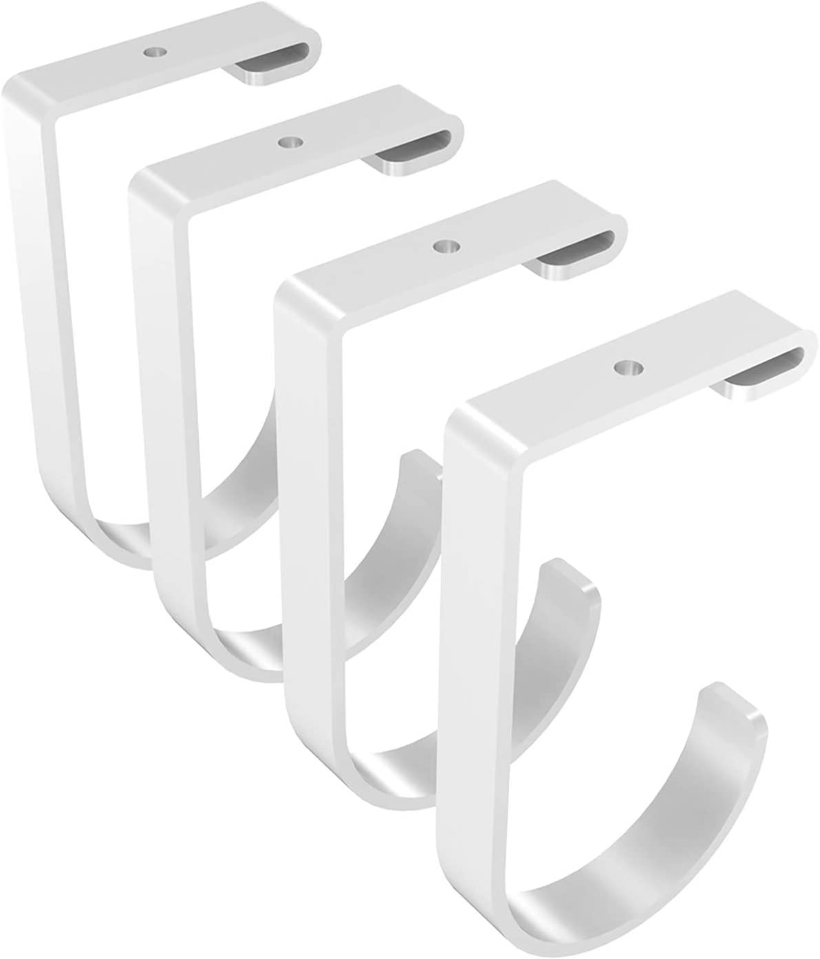 Amazon Com Fleximounts Add On Storage Hook Accessory For Ceiling Rack And Wall Shelving 4 Pack Flat Hook X 4 White Home Kitchen