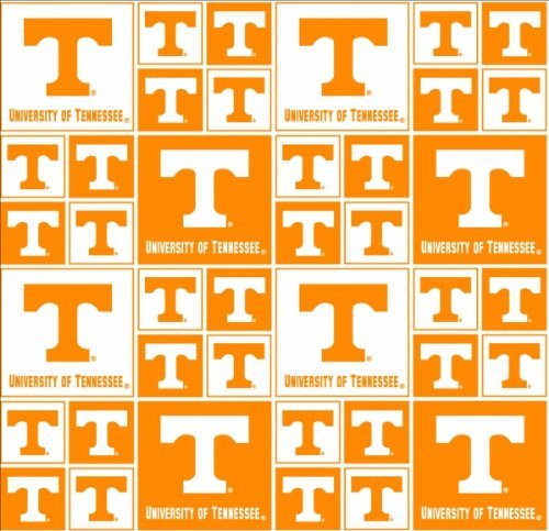 UNIVERSITY OF TENNESSEE VOLUNTEERS COTTON FABRIC-100% COTTON -UNIVERSITY OF TENNESSEE VOLUNTEERS FABRIC SOLD BY THE YARD-UNIVERSITY OF TENNESSEE VOLUNTEERS #20 SYKEL-COLLEGE COTTON FABRIC