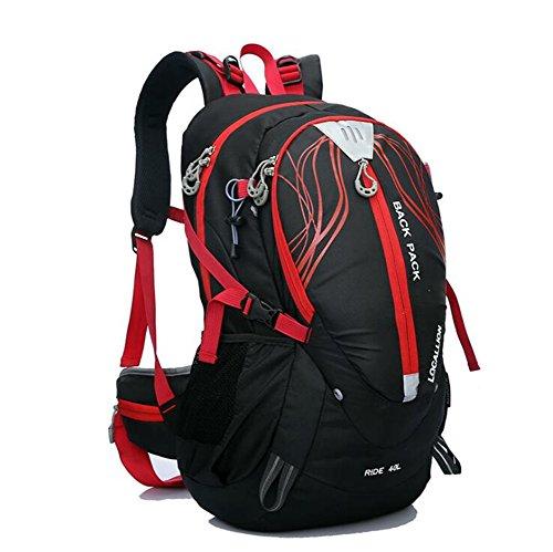 Wmshpeds Montañismo bag 40L bolsa para hombro soporte exterior escalada mochila al hombro impermeable mochila equitación deportes B