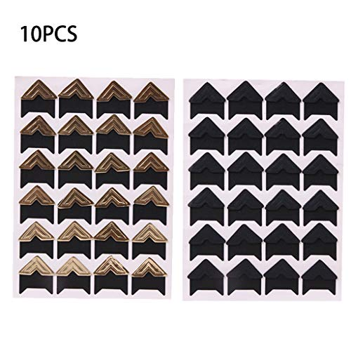10 Sheets Photo Corners Self Adhesive Stickers, Photo Mounting Paper Corner Stickers For DIY Scrapbook Albums ()
