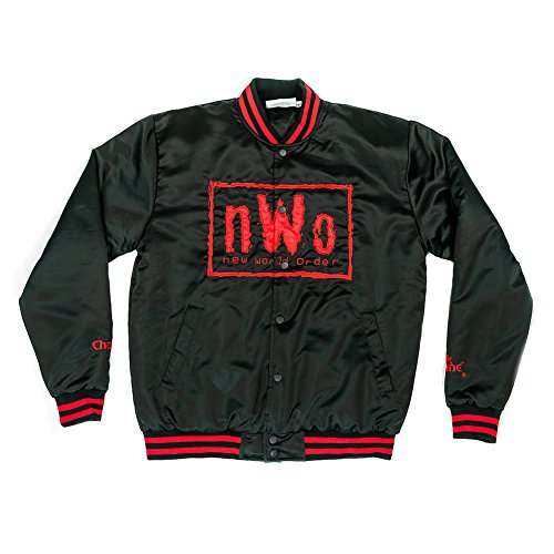 WWE nWo Wolfpac Vintage Chalk Line Jacket Black Small by WWE Authentic Wear (Image #2)