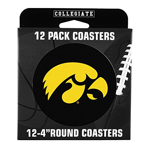 NCAA Iowa Hawkeyes Pulpboard Coasters, Set of 12