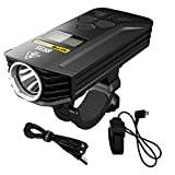 NITECORE BR35 1800 Lumen Dual Beam OLED Display Rechargeable Bicycle Headlight with Remote Control, Quick-release Mount and Charging Cable